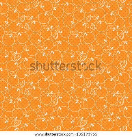 Oranges vector background pattern - stock vector