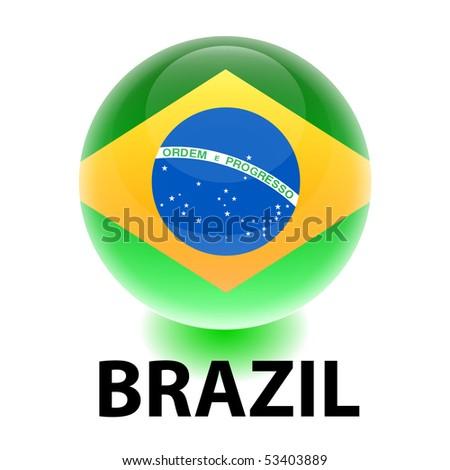 Orb Brazil Flag - stock vector