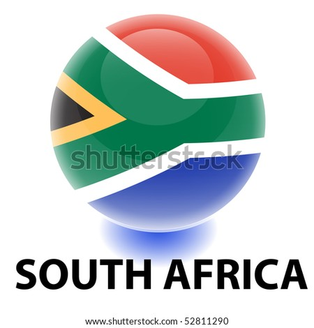 Orb South Africa Flag - stock vector