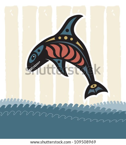 Orca whale - stock vector