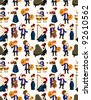 orchestra music player seamless pattern - stock vector