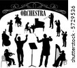 orchestra musician vector - stock vector