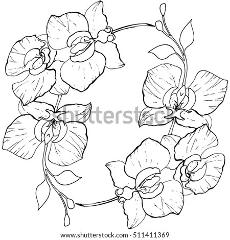 Coloring pages of christmas orchids ~ Christmas New Year Knitted Pattern Christmas Stock Vector ...
