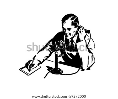 Order By Phone - Retro Clip Art