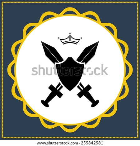 Order of the Sword icon - stock vector