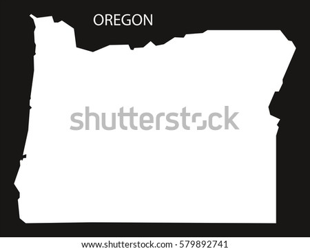 Oregon Usa Map Grey Stock Vector Shutterstock - Usa map oregon