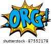 org - stock vector