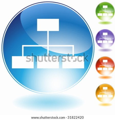 Org Chart Icon - stock vector