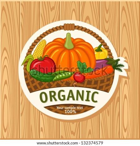 organic - stock vector