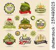 Organic and Ecology Web Icon and logo Set. Eco Logo Organic Food Label and Element Set easy editable for Your design. Retro logotype icon.
