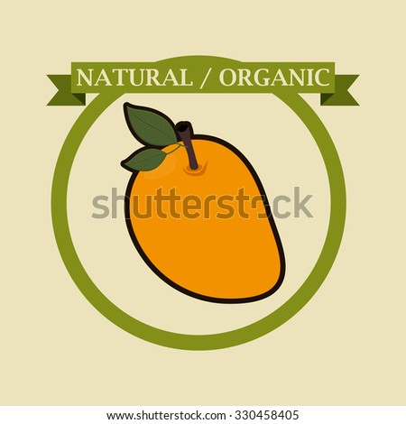 organic and healthy food design, vector illustration eps10 graphic