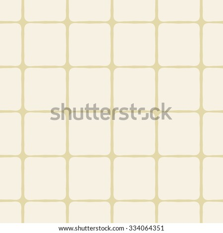 Organic bend cross square pattern - seamless repeatable - stock vector
