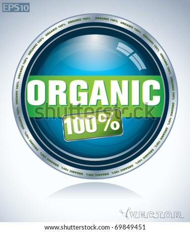 organic button - stock vector
