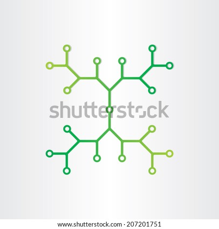 organic chemistry structure model abstract design dna genetic proton molecule ball background - stock vector
