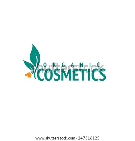 Organic cosmetics logo design vector template. Flower icon - stock vector