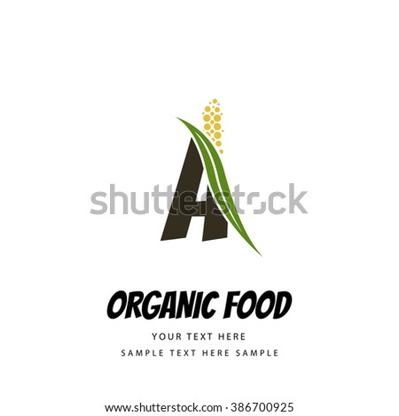 Organic food concept with millet twig - stock vector