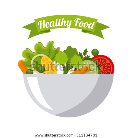 organic food design, vector illustration eps10 graphic  - stock vector