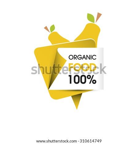 Organic food pear - stock vector