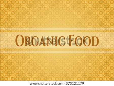 Organic Food retro style card, banner or poster - stock vector
