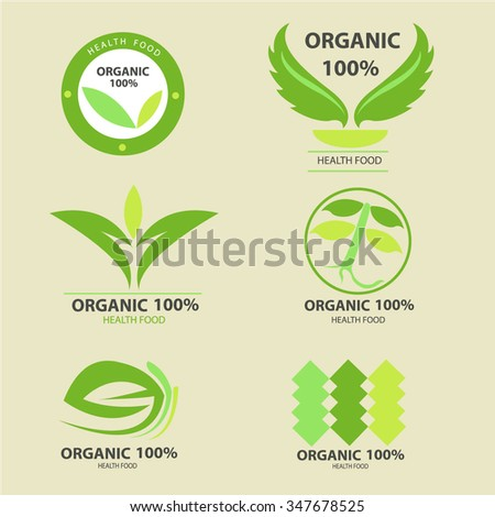 Organic frame, Vector Eco Stamps, Banners and Labels. Eco Style.