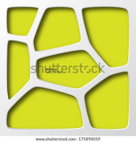 Organic geometry, abstract background, vector design. Individual cell color change.  - stock vector