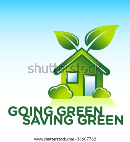 organic green house - stock vector