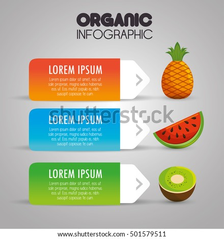 organic infographic presentation icon