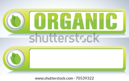 organic label - stock vector