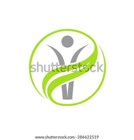 Organic Life logo - stock vector