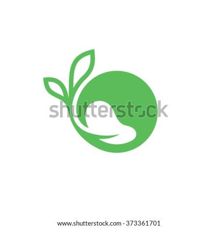 Organic Life Logo Design - stock vector