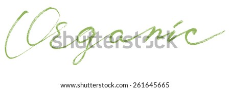 Organic Modern Brush Lettering Calligraphy Background Logotype. - stock vector