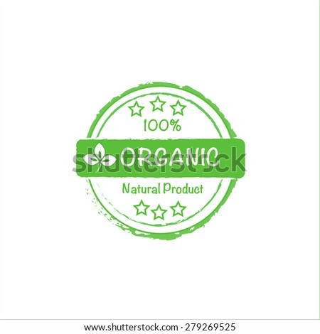 organic natural product vector stamp - stock vector
