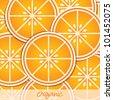 Organic orange slice background/card in vector format. - stock vector