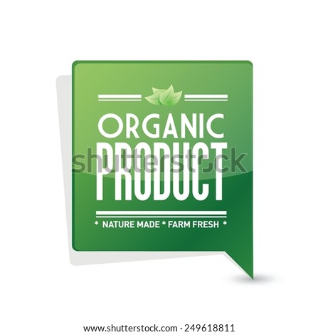 organic product pointer sign illustration design over a white background - stock vector