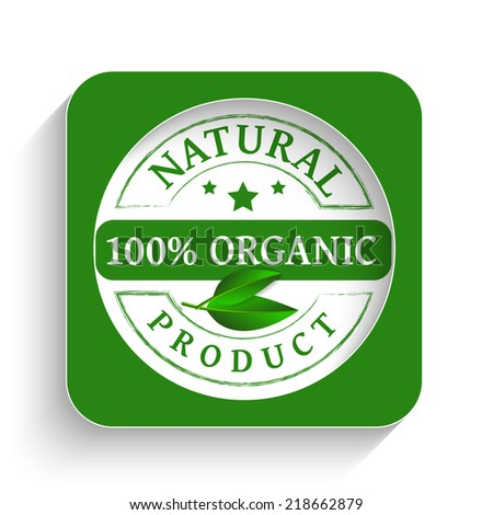 Organic product stamp icon as concept