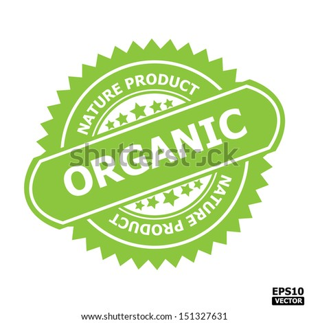 Organic rubber stamp sign.-eps10 vector