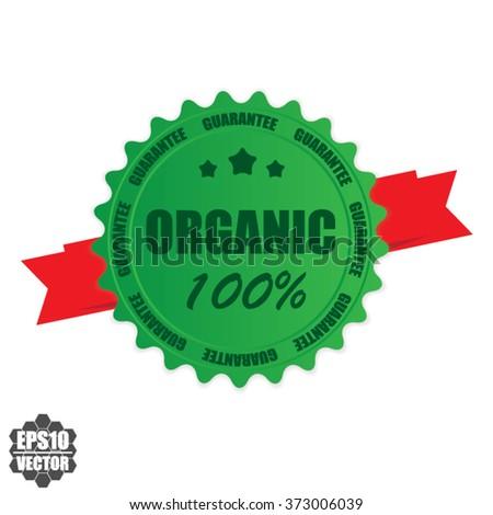Organic 100% stamp.Vector. - stock vector