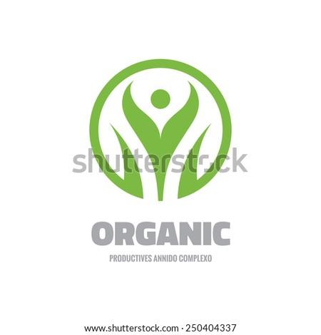 Organic Vector Logo Template Concept Illustration Stock ... Organic Leaf Symbol
