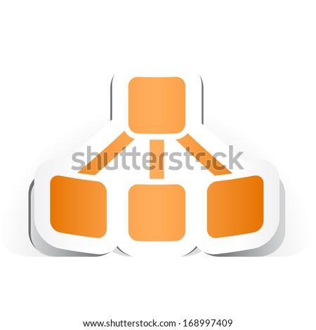 Organigram Symbol with Paper Design. - stock vector