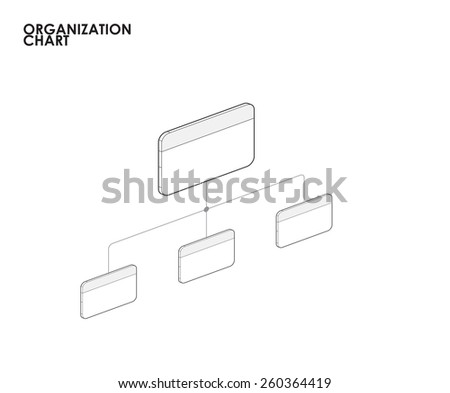 Organization chart template infographics with tree. vector illustration - stock vector