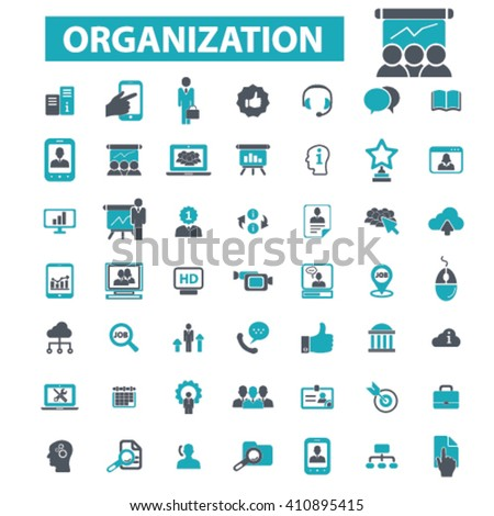 organization icons  - stock vector