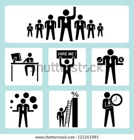 organization management - stock vector