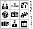 organization management and human resource set, icon set - stock photo