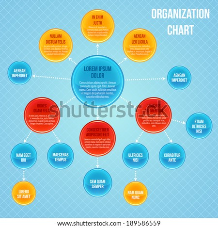 Organizational chart infographic business flowchart work process structure vector illustration - stock vector
