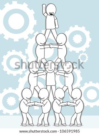 organizational chart success - stock vector