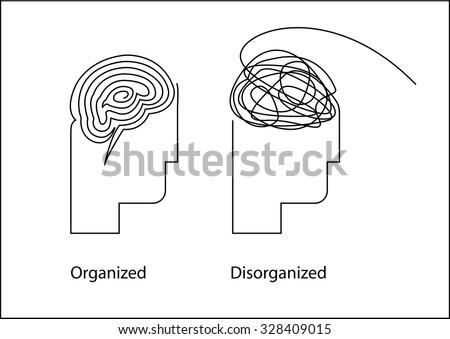 Organized Vs Disorganized / Order and Chaos - stock vector