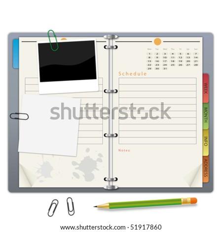 Organizer - stock vector