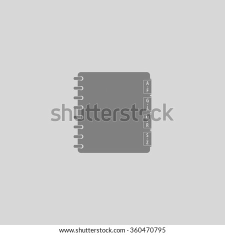 Organizer - Grey flat icon on gray background - stock vector