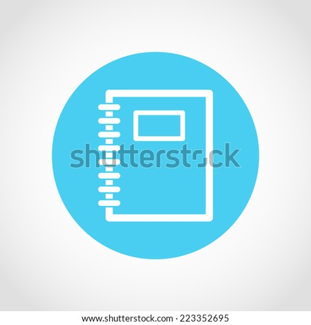 Organizer Icon Isolated on White Background - stock vector