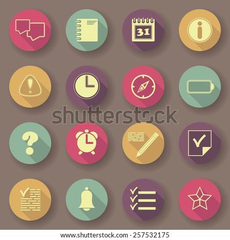 Organizer icons. Bright colors. Vector buttons. Original design        - stock vector